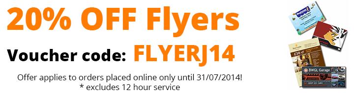 20% OFF Flyer Printing in July - FLYERJ14
