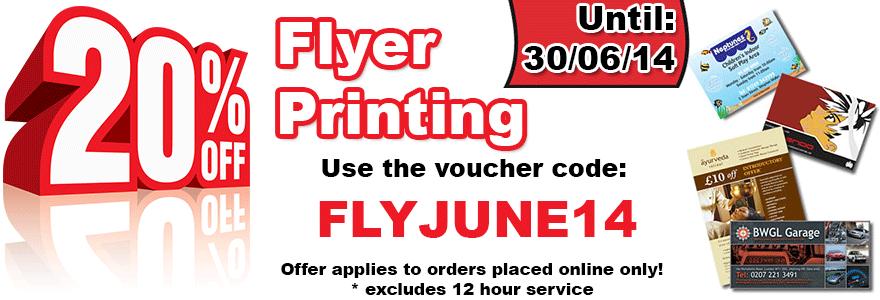 20% OFF Flyer Printing in June - FLYJUNE14