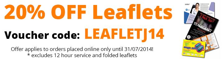 20% OFF Leaflet Printing in July - LEAFLETJ14