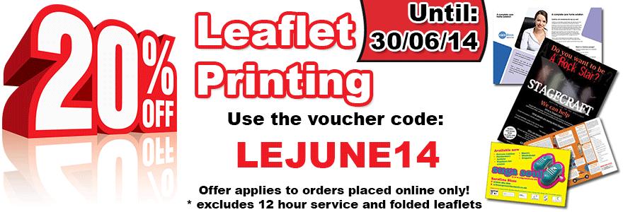 20% OFF Leaflet Printing in June - LEJUNE14