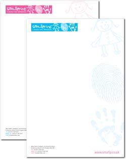 Smallprint: letterheads